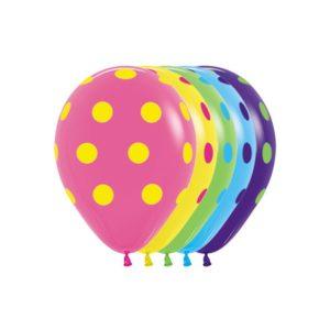 Ballonnen – Colored Polka Dots – Assortiment – 25 Stuks