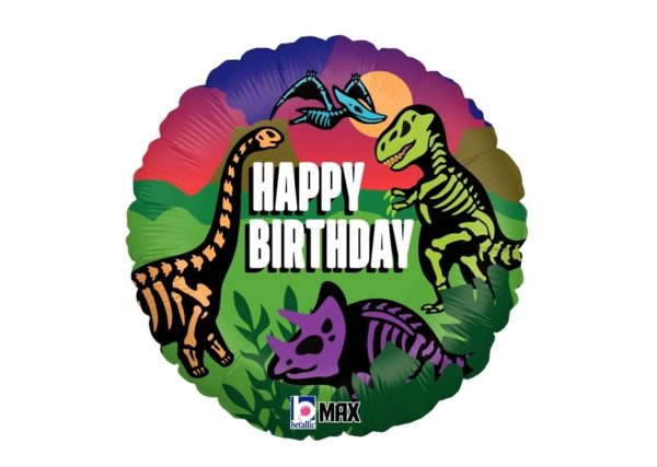 Folieballon - Jurassic Birthday - 45 cm - Betallic