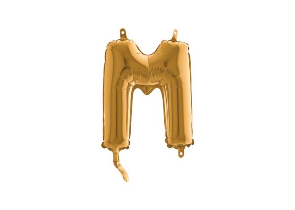 Folieballon Letter M - Goud - 35cm