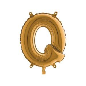 Folieballon Letter Q - Gold - 35cm