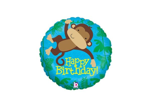Folieballon - Monkey Buddy Birthday - 45 cm - Betallic