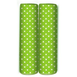 Serpentine - Polka Dots - Lime Green