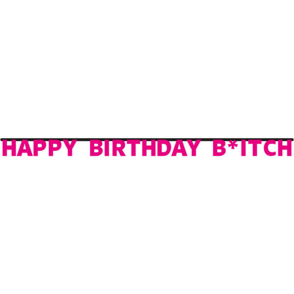 Happy Birthday Bitch Letterbanner 1
