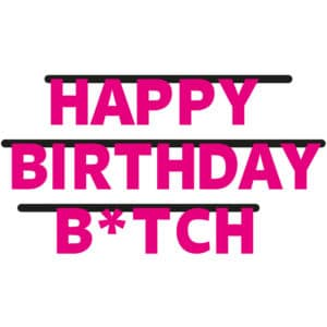 Happy Birthday Bitch Letterbanner