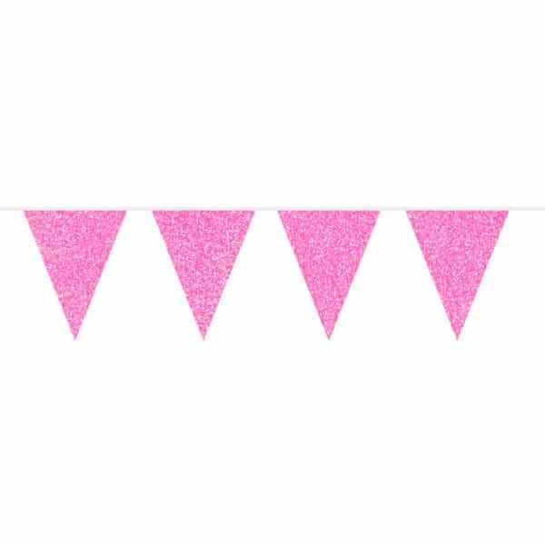 Roze Glitter Vlaggenlijn