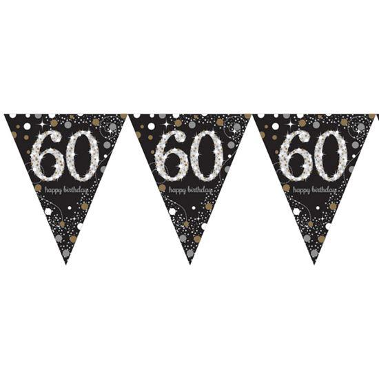 Vlaggenlijn 60 jaar (4m) sparkling gold