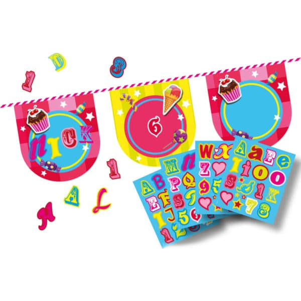 Cake & Candy Letterslinger Stickers- 4mtr
