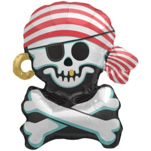 Folieballon piratenvlag – Jolly Roger