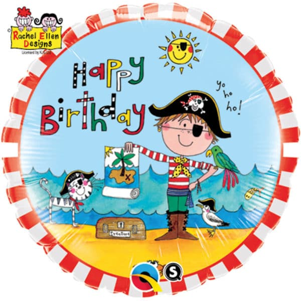Happy Birthday Piraat Folieballon 46cm