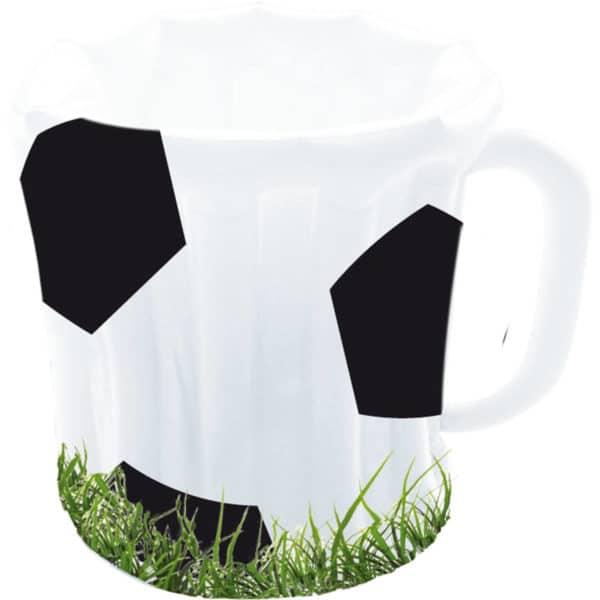 Opblaasbierpul Voetbal - 60cm