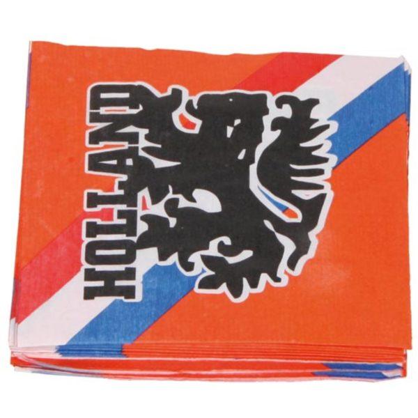 Oranje Retro Voetbal servet - 20 stuks