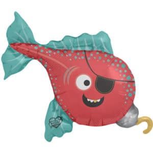Piratenvis folieballon – 102 cm