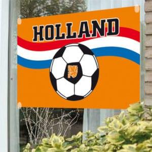 Raamvlag voetbal oranje 100x150cm