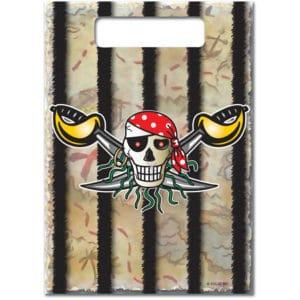 Rode Piraat uitdeelzakjes piraten - 8 stuks