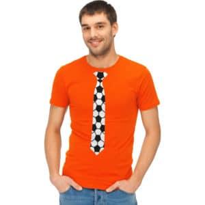T-shirt met Stropdas Voetbal Print