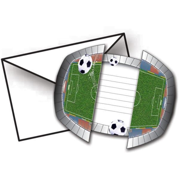 Voetbal Uitnodigingen - 8 stuks 1