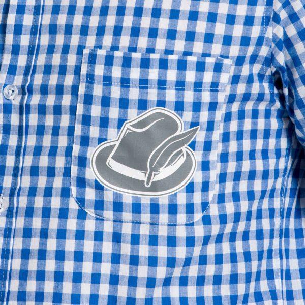 Blauw Oktoberfest Overhemd maat XL -XXL 1