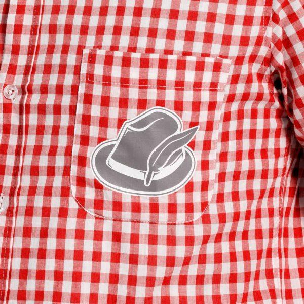 Rood Oktoberfest Overhemd Maat M-L 3