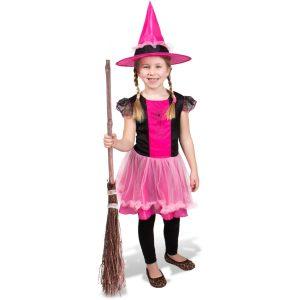Heksenjurk met Roze Hoed - Kindermaat M
