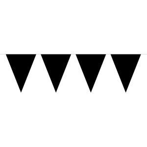 Zwarte effen vlaggenlijn - 10 meter
